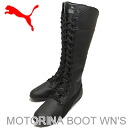 PUMA (PUMA) MOTORINA BOOT WN's (women's モトリーナ boots), Black/Black