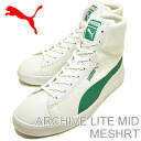 PUMA (PUMA) archive light mid mesh White / Green Lake [shoes & Sneakers Shoes]