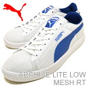 PUMA (PUMA) archive low mesh white / snorkel blue light [shoes & Sneakers Shoes]