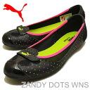 PUMA (PUMA) ZANDY DOTS WNS (Sandy dots Womens) black [shoes and pumping sneakers flat shoes]