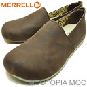 MERRELL( メレル )MOOTOPIA MOC( Mu Topia mock )BRONTE BROWN (ブロンティブラウン) [shoes, sneakers shoes slip-ons]