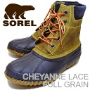 (Sorell) SOREL CHEYANNE LACE FULL GRAIN (Cheyenne lace full-grain) Curry / total eclipse