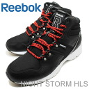 Reebok ( Reebok ) NIGHT STORM HLS (night storm HLS) black/white/モーターレッド