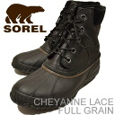 SOREL( Sorrel )CHEYANNE LACE FULL GRAIN( cheyenne race full grain )BLACK/DARK BROWN (black / dark brown)