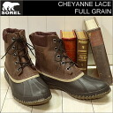 SOREL (Soler) MADDER CHEYANNE LACE FULL GRAIN (シャイアンレースフルグレイン) BROWN/STOUT (mcderbrown/stout) [shoes and winter boots & shoes]