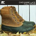 SOREL( Sorrel) CHEYANNE LACE FULL GRAIN( Cheyenne race full grain) chipmunk / black [shoes, winter boots shoes] [smtb-td]