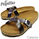 BIRKENSTOCK, Papillio (Birkenstock papirio) Catania (Catania) Lack Dress Blue/Black Espadrille (ラックドレス blue / black espadrille) [shoes and sandals shoes Womens comfort]