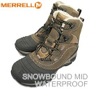 MERRELL SNOWBOUND MID WATER PROOF dark earth