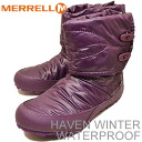 MERRELL (Merrell) HAVEN WINTER WATERPROOF (waterproof Winter Haven) PURPLE (purple) [shoes, winter boots, shoes, waterproof,