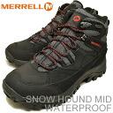MERRELL (렐) SNOWHOUND MID WATERPROOF (スノーハウンド 미드 워터 프 루프) BLACK (블랙)