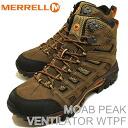 MERRELL (렐) MOAB PEAK MID VENTILATOR WTPF (모 압 최고봉 미드 벤 틸 레이 터 워터 프 루프) BLACK SLATE (블랙 슬레이트) [신발/부츠/신발/하이킹]