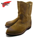 """9 inches RED WING RW-8188 """"PECOS ROPER HAWTHORNE MULESKINNER [ work boots pekoe slopers, MADE IN USA]"""