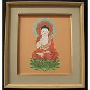 Hanging Muto Junichi Zodiac 戌亥 old students and become a believer Amida Buddha Buddhist hanging scrolls