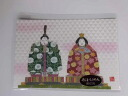 Machiko child Yuzen crepe postcard kimono postcard season landscape dolls