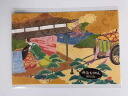 Machiko yuzen crape picture postcard kimono picture postcard Kyoto court-cow-carriage crest