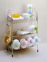 Stainless shampoo racks 3 hooks, SOAP dish with beveled storage type