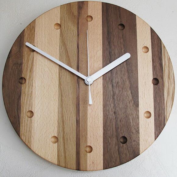 手工制作的木块拼花钟表马赛克圆(pm-0040250)