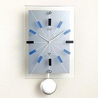 ガラス電波振り子時計「エウロパ(ブルー)」