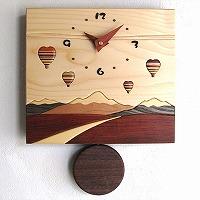 寄せ木振り子時計J-6