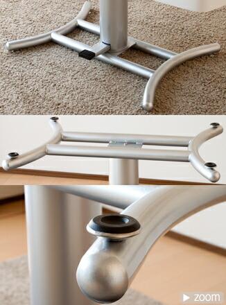 昇降式テーブル脚部詳細