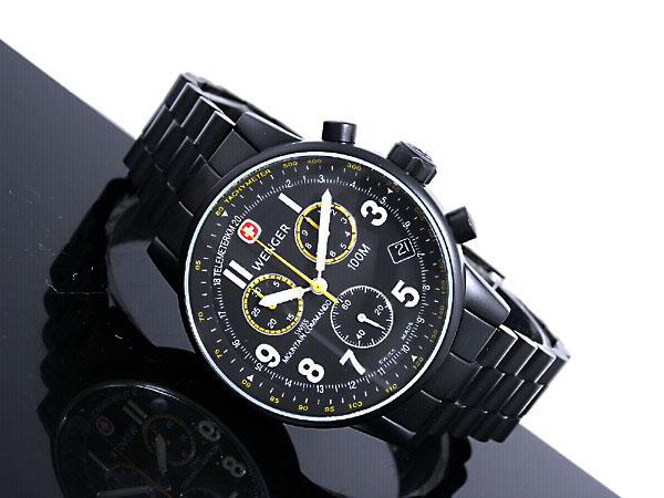 ウェンガー WENGER 腕時計 スイス製 コマンド クロノグラフ 70705XL メンズ ブラック メタルベルト -2