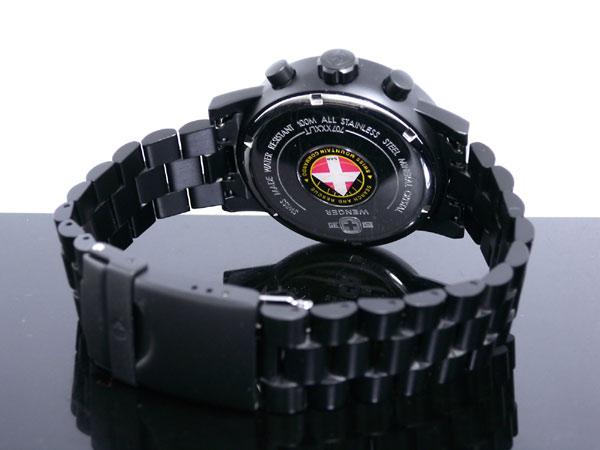 ウェンガー WENGER 腕時計 スイス製 コマンド クロノグラフ 70705XL メンズ ブラック メタルベルト -3