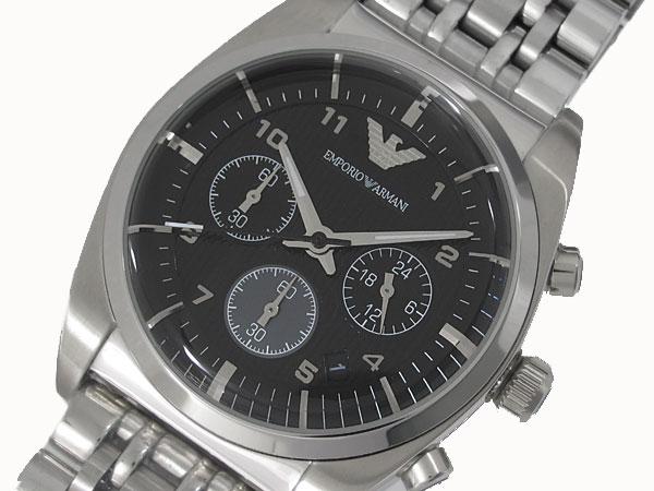 エンポリオ アルマーニ EMPORIO ARMANI クロノグラフ 腕時計 メンズ AR0373-1