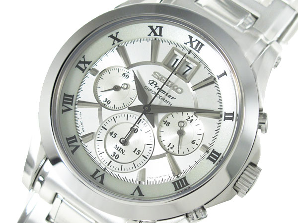 セイコー SEIKO プレミア ビッグデイト クロノグラフ 腕時計 メンズ SPC063P1-1