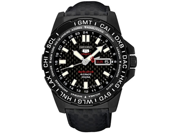 セイコー SEIKO 5 SPORTS 逆輸入 自動巻き 腕時計 SRP723K1 カーボン 限定モデル-1