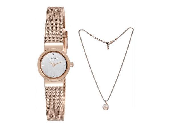 スカーゲン SKAGEN レディース 腕時計 ネックレス ギフトボックス セット SKW1067-1