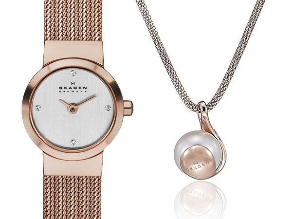 スカーゲン SKAGEN レディース 腕時計 ネックレス ギフトボックス セット SKW1067-2