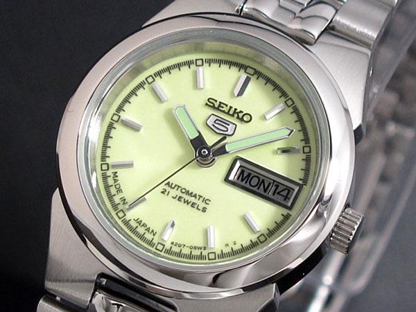 SEIKO 5 セイコー5 逆輸入 日本製 レディース 自動巻き 腕時計 SYMG57J1 メタルベルト ブレスレット-1