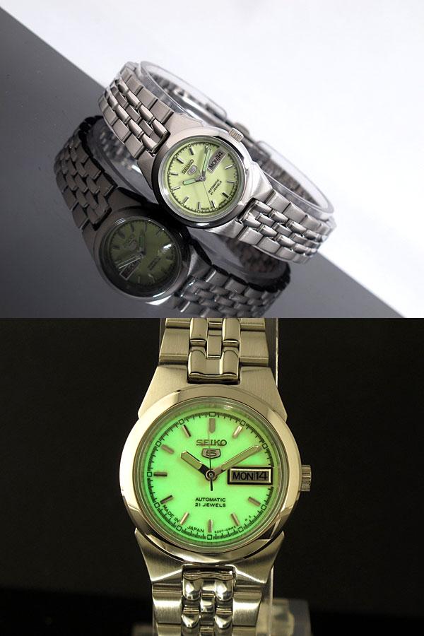 SEIKO 5 セイコー5 逆輸入 日本製 レディース 自動巻き 腕時計 SYMG57J1 メタルベルト ブレスレット-2