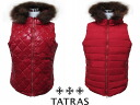 TATRAS タトラス BIANCA ladies ' reversible down vest LTA13A4292 RED 02