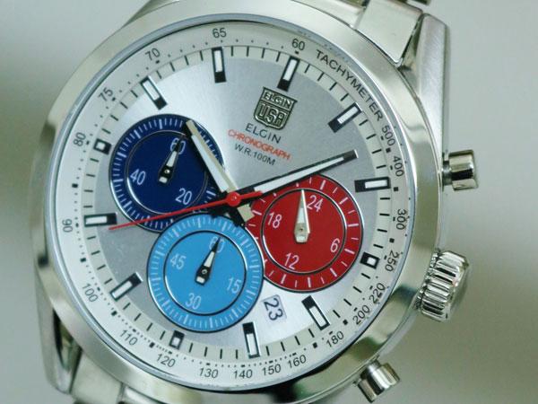 エルジン ELGIN 腕時計 クロノグラフ メンズ FK1411S-S-1