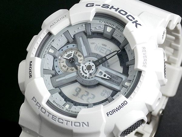 カシオ CASIO Gショック G-SHOCK アナデジ 腕時計 ハイパーカラーズ GA-110C-7A メンズ ホワイト ラバー-1
