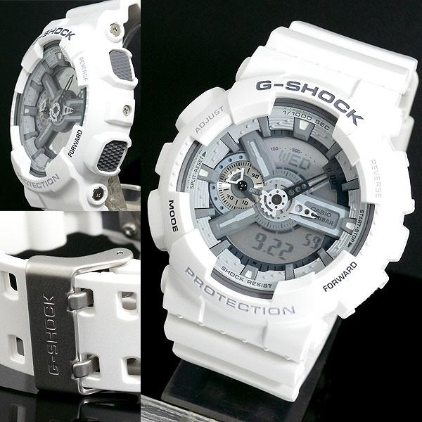 カシオ CASIO Gショック G-SHOCK アナデジ 腕時計 ハイパーカラーズ GA-110C-7A メンズ ホワイト ラバー-2