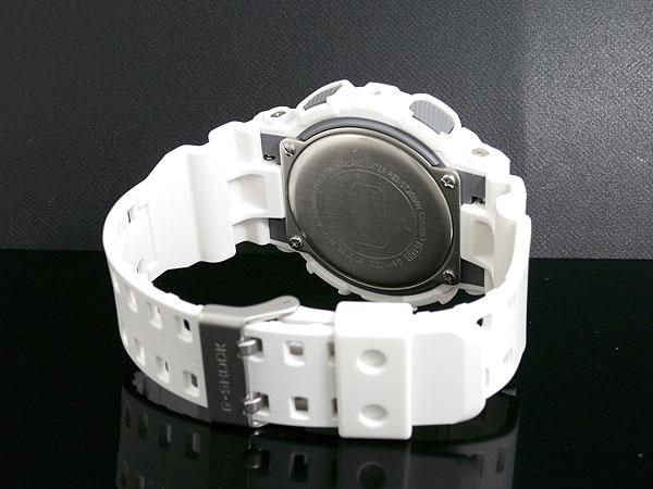 カシオ CASIO Gショック G-SHOCK アナデジ 腕時計 ハイパーカラーズ GA-110C-7A メンズ ホワイト ラバー-3