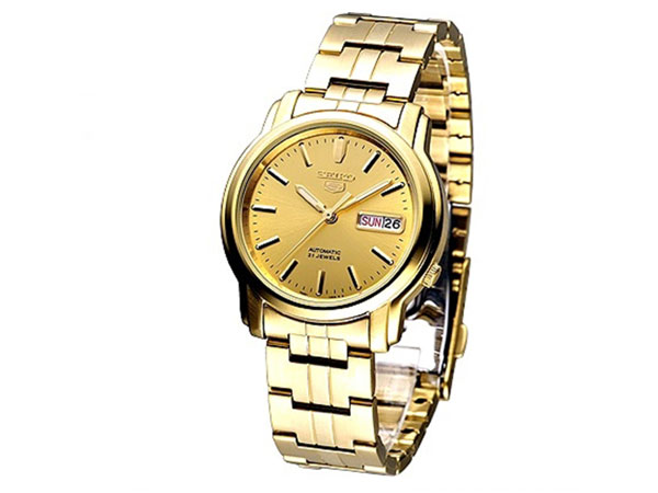 SEIKO 5 セイコー5 逆輸入 自動巻き メンズ 腕時計 SNKK76K1 ゴールド-1