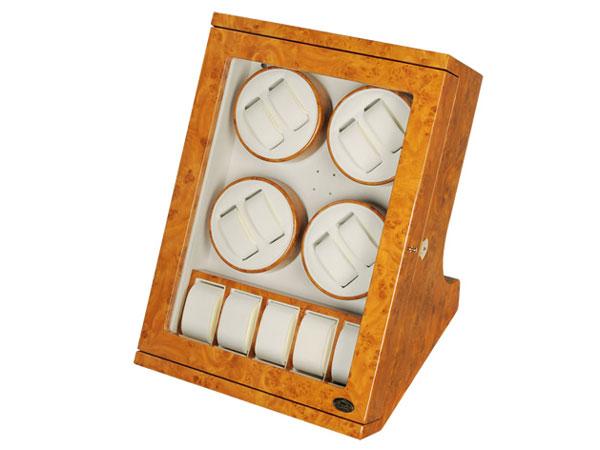 ワケアリB品 アウトレット アウトレット LUWH 8本 ウォッチワインダー ワインディングマシーン 腕時計 13本 収納 LU30008RW ウッド-1