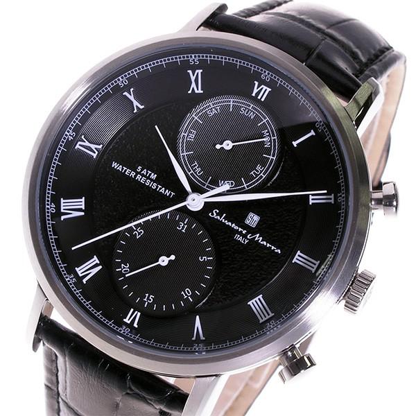 サルバトーレマーラ クロノ クオーツ メンズ 腕時計 SM16105-SSBK ブラック-1