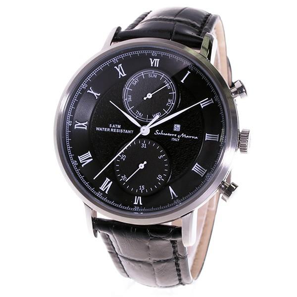 サルバトーレマーラ クロノ クオーツ メンズ 腕時計 SM16105-SSBK ブラック-2