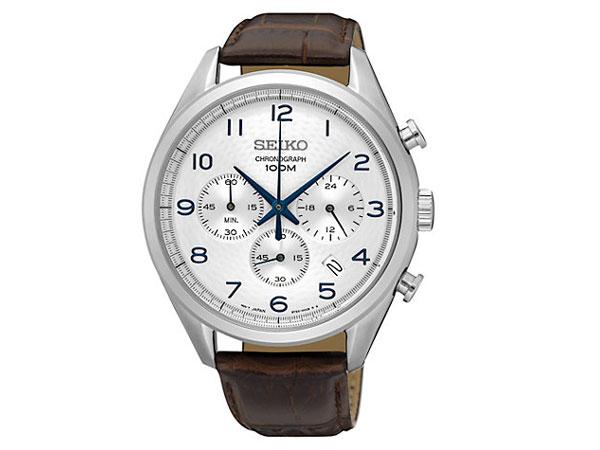 セイコー SEIKO 逆輸入 クロノグラフ メンズ 腕時計 SSB229P1 レザーベルト-1