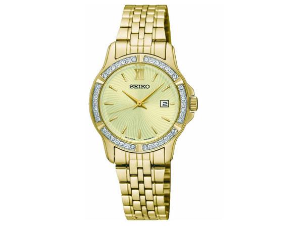 セイコー SEIKO 逆輸入 クオーツ レディース 腕時計 SUR728P1 メタルベルト ゴールド-1