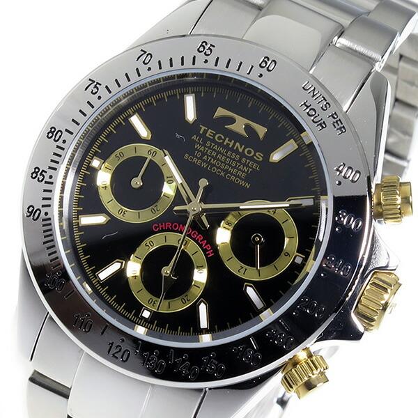 Aaa net shop rakuten global market technos technos watches men 39 s tsm401lb chronograph for Technos watches