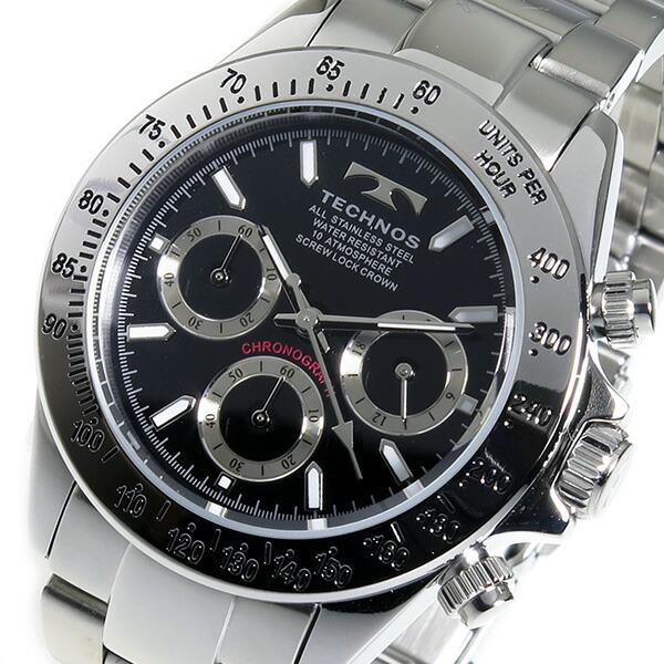 テクノス TECHNOS 腕時計 メンズ TSM401SB クロノグラフ-1