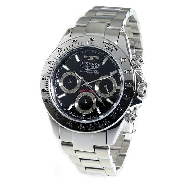 テクノス TECHNOS 腕時計 メンズ TSM401SB クロノグラフ-2