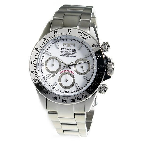 Aaa net shop rakuten global market technos technos watches men 39 s tsm401sw chronograph for Technos watches