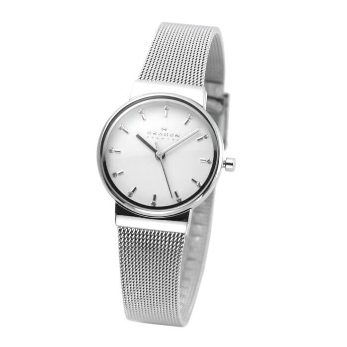 スカーゲン SKAGEN SKW2195  レディス腕時計 ラインストーンインデックス メッシュストラップ