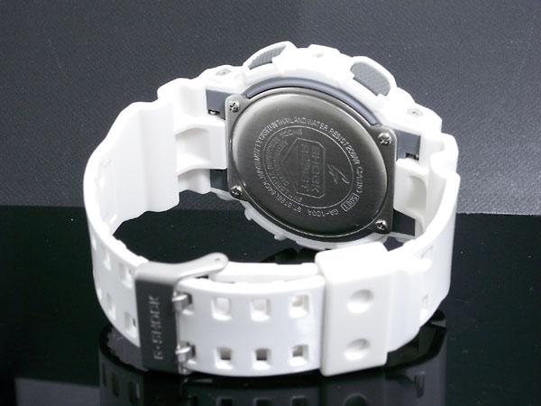 カシオ CASIO Gショック G-SHOCK アナデジ 腕時計 GA-100A-7A メンズ ホワイト×パープル ラバーベルト-3